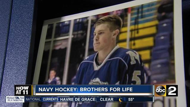 Navy Hockey playing in memory of fallen brother