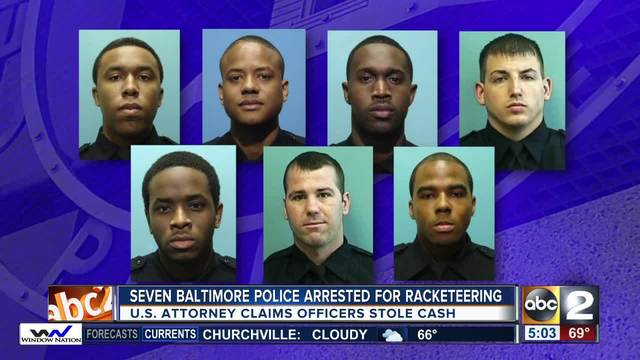Baltimore Police Officers Charged In Racketeering Conspiracy