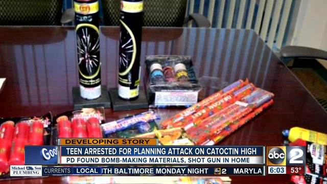 Teen arrested in Catoctin High School threat