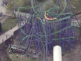 Dozens rescued on Six Flags roller coaster in Md