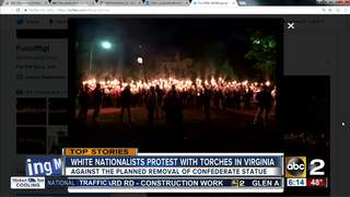 White nationalists carry torches to VA protest
