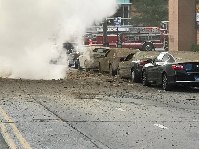 Steam pipe explosion buckles street in downtown Baltimore