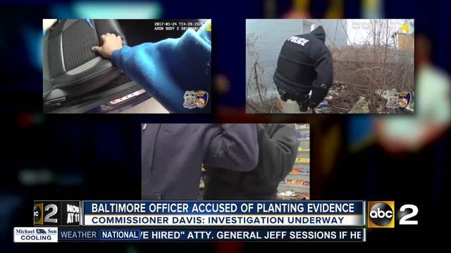 Baltimore officer accused of planting evidence