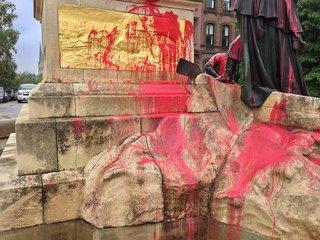 Francis Scott Key statue vandalized in Baltimore