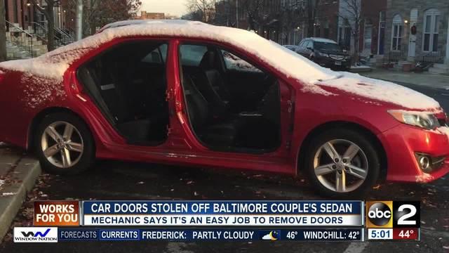 Patterson Park couple-s car doors stolen overnight