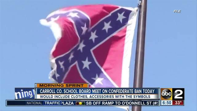 Maryland school board to discuss banning Confederate flag from
