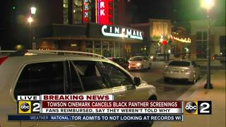 Md. theater cancels 'Black Panther' screenings
