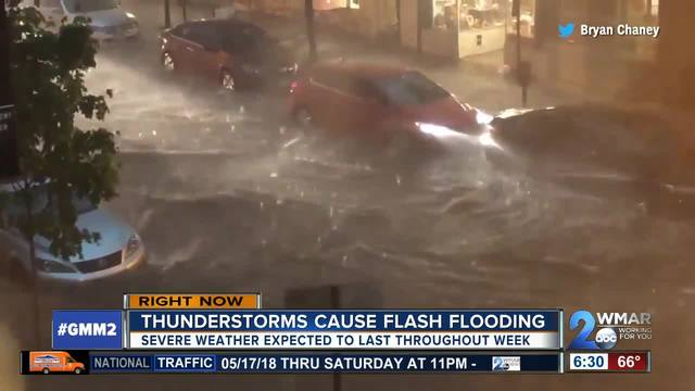Thunderstorms cause flash flooding in Maryland - NBC26 ...